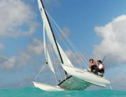 Bahamas - Club Med Columbus Isle couple, sailing, 2012